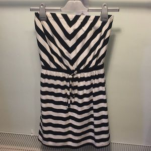 Mossimo Supply Co. Black & White Striped Cover Up
